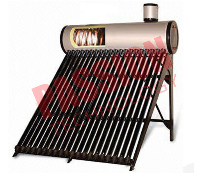 0.5 Bar High Powered Pre Heated Solar Water Heater Rooftop With Feeding Tank