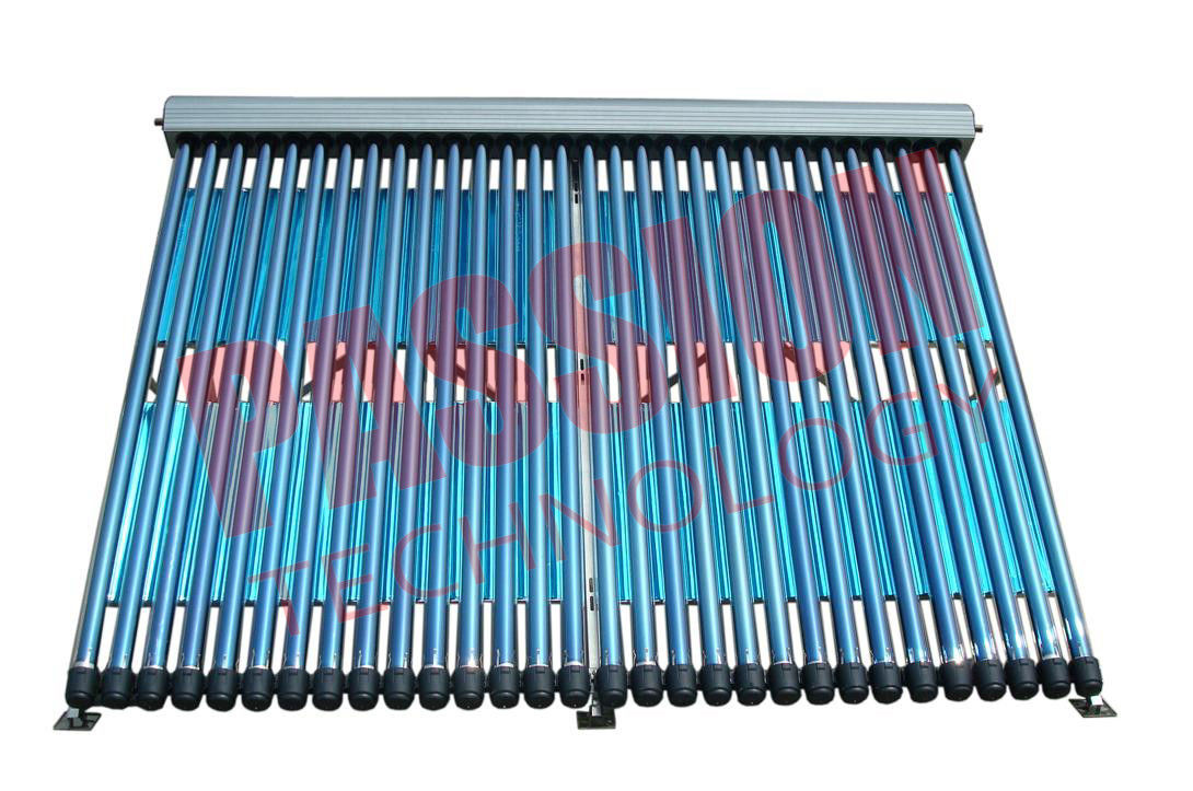 U Pipe Pressurized Solar Collector , Solar Thermal Collectors 25 Tubes