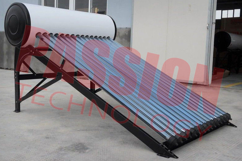 Professional Heat Pipe Solar Water Heater With 20 Tubes Aluminum Reflector Frame