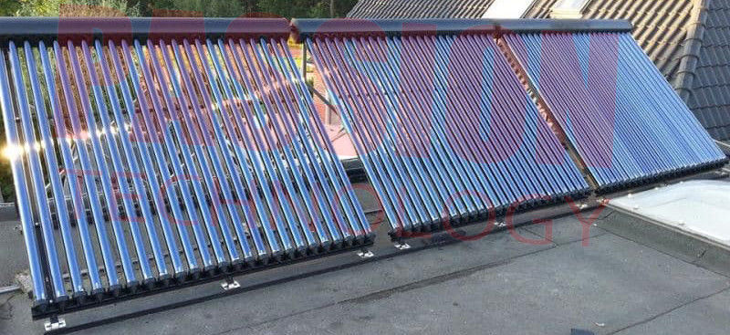 High Efficiency Aluminum Alloy Silver Black Heat Pipe Solar Collectors 10 to 30 Tubes